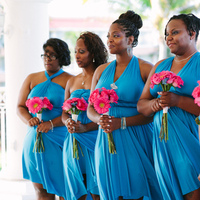 Ceremony, Flowers & Decor, pink, blue
