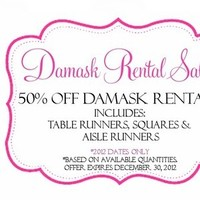 white, black, Table, Rental, Aisle, Runner, Sale, Damask