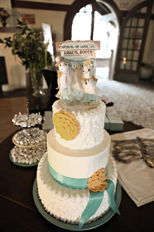 Cakes, blue, gold, cake