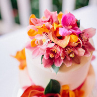Cakes, Destinations, orange, red, cake, Calla, Destination, Orchids, Hawaiian, Lily, Exotic, Fuchsia, Claire jing