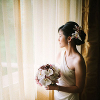 Destinations, orange, red, Bride, Portrait, Destination, Colorful, Hawaiian, Exotic, Vera, Wang, Vibrant, Claire jing