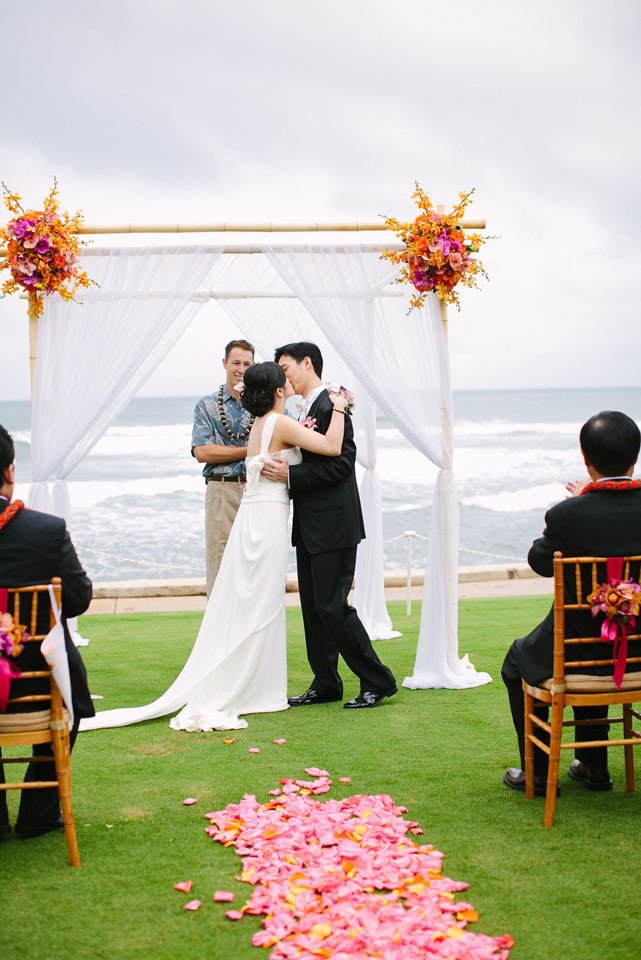Ceremony, Flowers & Decor, Destinations, orange, Destination, Hawaiian, Exotic, Claire jing