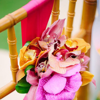 orange, pink, gold, Tropical, Chair, Décor, Claire jing