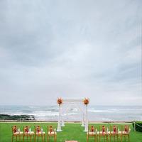 Ceremony, Flowers & Decor, Destinations, Destination, Ocean, Hawaiian, Aisle, Island, Claire jing