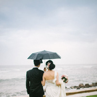 Destinations, orange, red, Umbrella, Destination, Couple, Hawaiian, Exotic, Rain, Claire jing