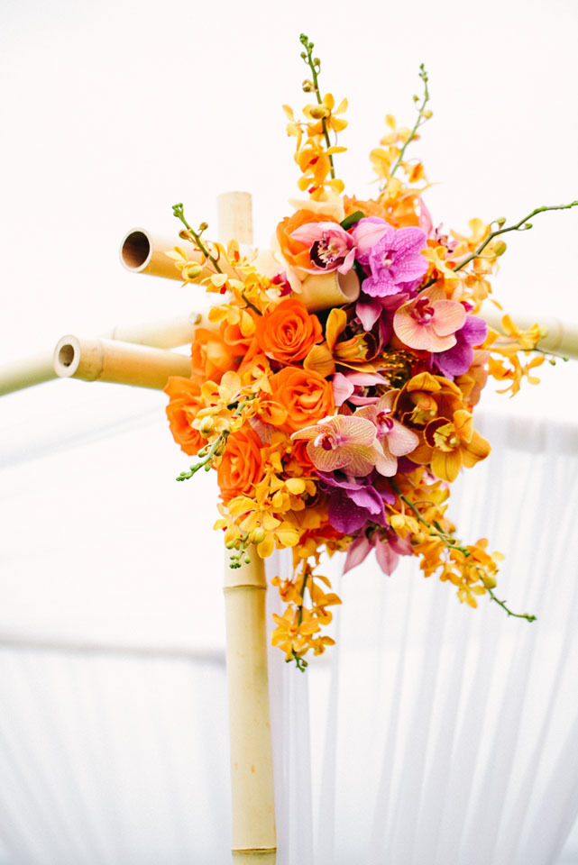 Ceremony, Flowers & Decor, Destinations, orange, Flower, Destination, Hawaiian, Exotic, Décor, Claire jing