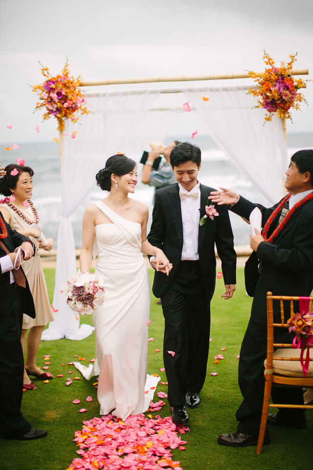 Ceremony, Flowers & Decor, Destinations, orange, red, Destination, Colorful, Hawaiian, Exotic, Vibrant, Claire jing