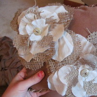Ceremony, Flowers & Decor, brown, Rustic, Rustic Wedding Flowers & Decor, Ring, Burlap, Pillow, Bearer