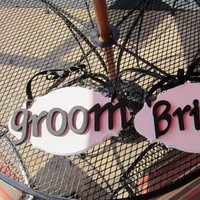Reception, Flowers & Decor, Favors & Gifts, white, black, Favors, Bride, Groom, And, Inspiration board, Sign