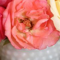 Flowers & Decor, white, pink, Centerpieces, Flowers, Bridal, At, Glass, Shower, Breakfast, Tiffanys, Milk