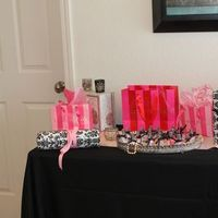 Favors & Gifts, pink, black, Favors, Table, Prize