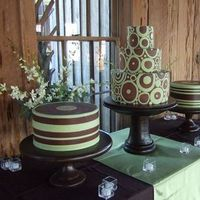 Reception, Flowers & Decor, Cakes, green, brown, cake