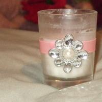 Ceremony, Reception, Flowers & Decor, pink, Votive, Centerpiece-pink-bling