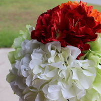 Ceremony, Reception, Flowers & Decor, white, orange, red, Ceremony Flowers, Flowers