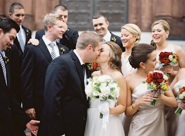 Bride, Groom, Kiss, And, Newlyweds, Colleen zachary