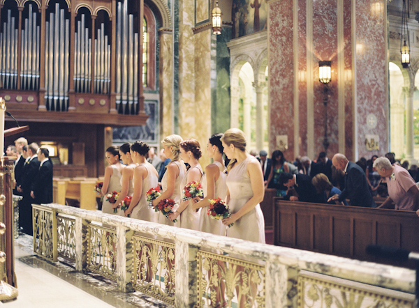 Ceremony, Flowers & Decor, Bridesmaids, Bridesmaids Dresses, Fashion, Church, Catholic, Cathedral, Colleen zachary