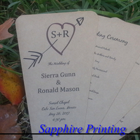 Ceremony, Flowers & Decor, Stationery, Invitations, Programs, Program, Fans, Personalized, Petal, Cutom