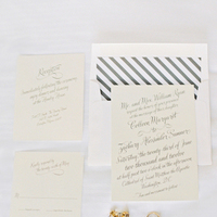 Calligraphy, Stationery, ivory, Invitations, Elegant, Sophisticated, Striped, Colleen zachary