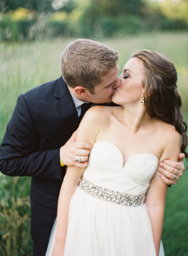 Bride, Groom, Portrait, Kiss, Newlyweds, Colleen zachary