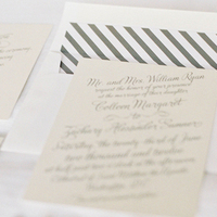 Calligraphy, Stationery, Invitations, Stripe, Striped, Colleen zachary