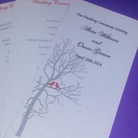 Stationery, Ceremony Programs, Programs, Wedding, Special, Event, Personalized, Petal, Panel