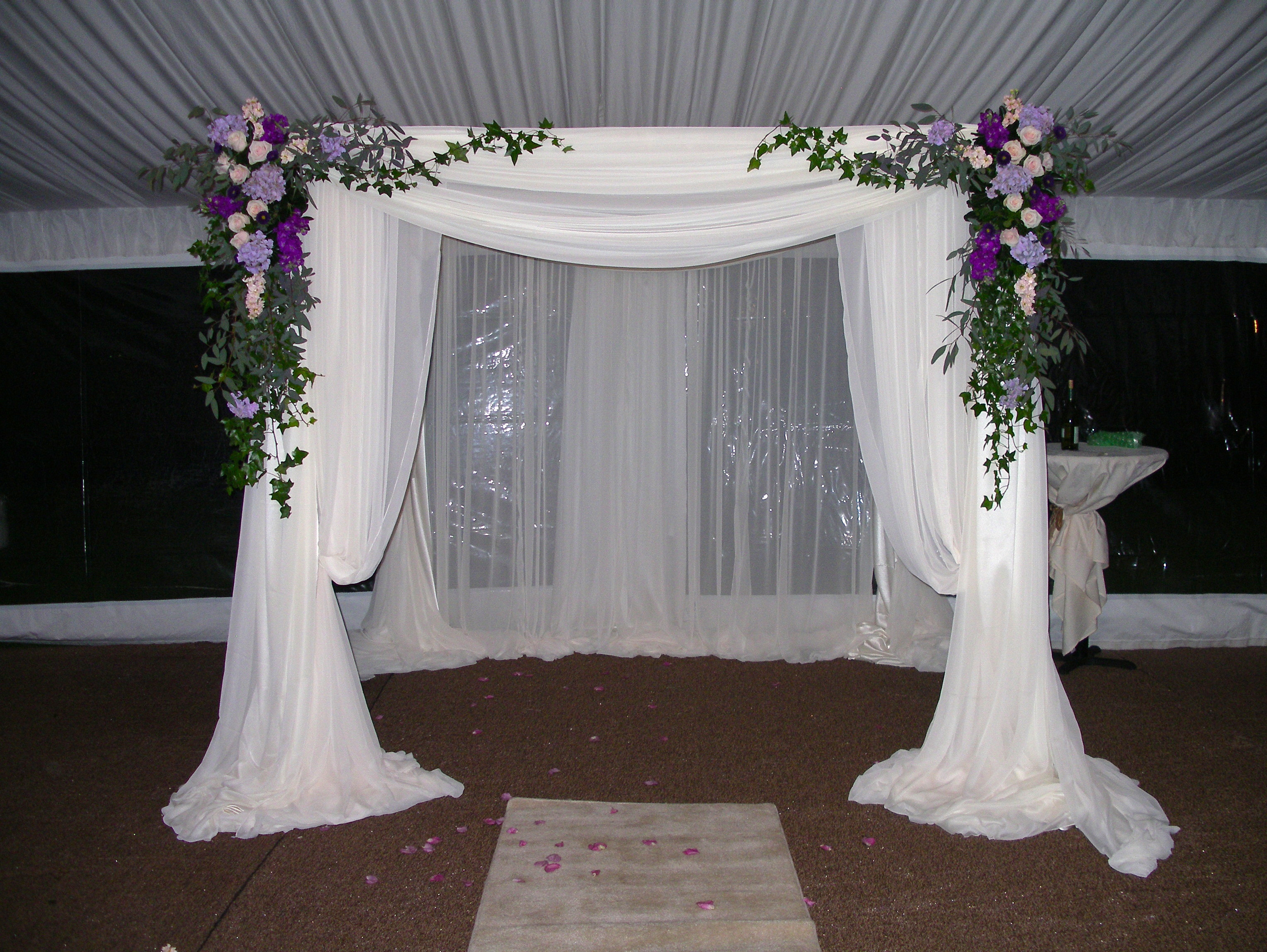 Ceremony, Flowers & Decor, white, Chuppah, Curtains