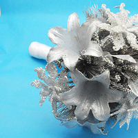 DIY, Flowers & Decor, silver, Bride Bouquets, Flowers, Bouquet, Ornament