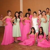 Bridesmaids, Bridesmaids Dresses, Fashion, pink, green