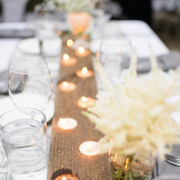 Reception, Flowers & Decor, Lighting, Candles, Grey, Runner, Pattern, Candlelight, Lissa paul, Ikat