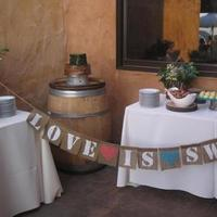 Ceremony, Reception, Flowers & Decor, Favors & Gifts, Cakes, white, yellow, orange, pink, red, purple, blue, green, brown, black, silver, gold, cake, Favors, Ceremony Flowers, Centerpieces, Flowers, Centerpiece, Burlap, Inspiration board, Wood, Signage, Logs