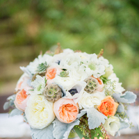 Flowers & Decor, ivory, Garden, Roses, Bouquet, Bridal, Peach, Lissa paul