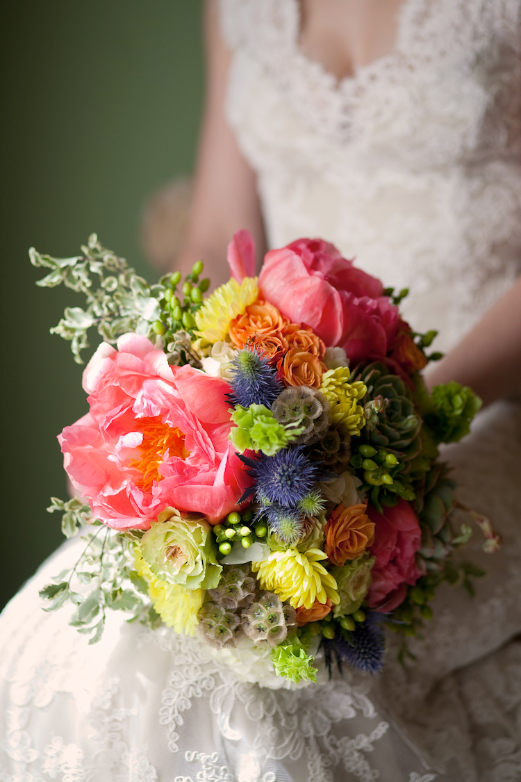yellow, pink, Bouquet, Bridal, Lavender, Peony, Jessica michael
