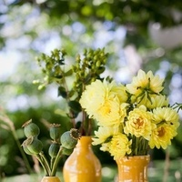 Reception, Flowers & Decor, yellow, green, gold, Centerpieces, Centerpiece, Jessica michael