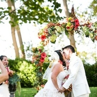 Ceremony, Flowers & Decor, Fashion, Men's Formal Wear, Outdoor, Floral, Suit, Watters, Lawn, Archway, J, Crew, Chalinee craig