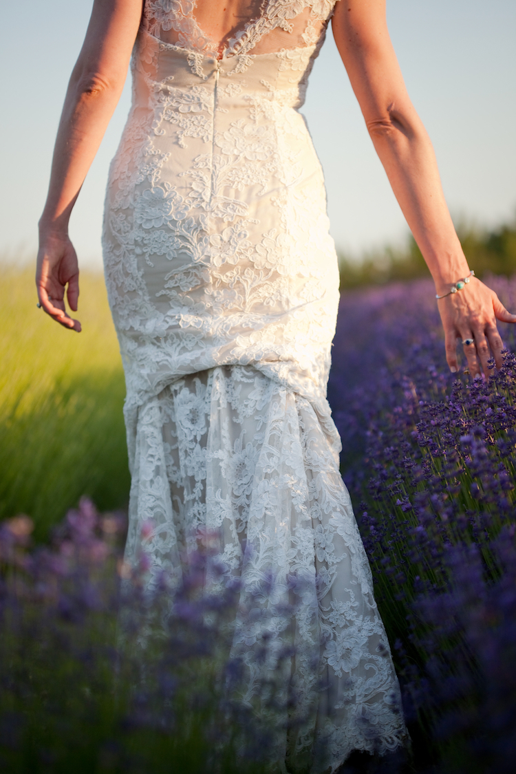 Gown, Lace, Lavender, Organic, Farm, Monique, Lhuillier, Field, Jessica michael