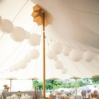 Reception, Flowers & Decor, Paper, white, Outdoor, Tent, Lanterns, Khaki, Chalinee craig