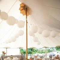 Reception, Flowers & Decor, Paper, white, Outdoor, Tent, Lanterns, Khaki, Chalinee craig