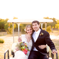 pink, Bride, Bouquet, Groom, And, Lace, Golf, Cart, Jessica michael