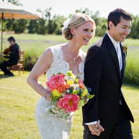 pink, Bride, Bouquet, Groom, And, Lace, Lavender, Organic, Farm, Fields, Jessica michael