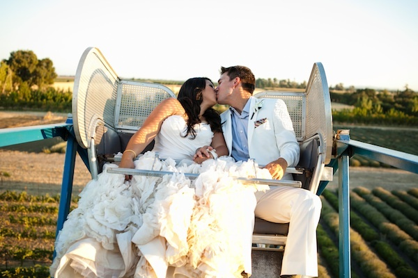 Ceremony, Flowers & Decor, Bride, Outdoor, Groom, Farm, Wheel, Ferris, Chalinee craig
