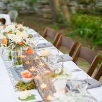 Reception, Flowers & Decor, Rustic, Lighting, Outdoor, Rustic Wedding Flowers & Decor, Grey, Peach, Wood, Candlelight, Lissa paul