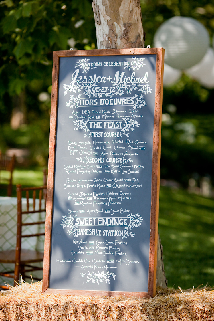 Reception, Flowers & Decor, Rustic, Rustic Wedding Flowers & Decor, Farm, Hay, Chalkboard, Jessica michael