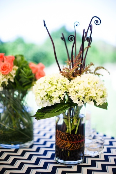 Roses, Hydrangeas, Navy, Jars, Chalinee craig, Chevron