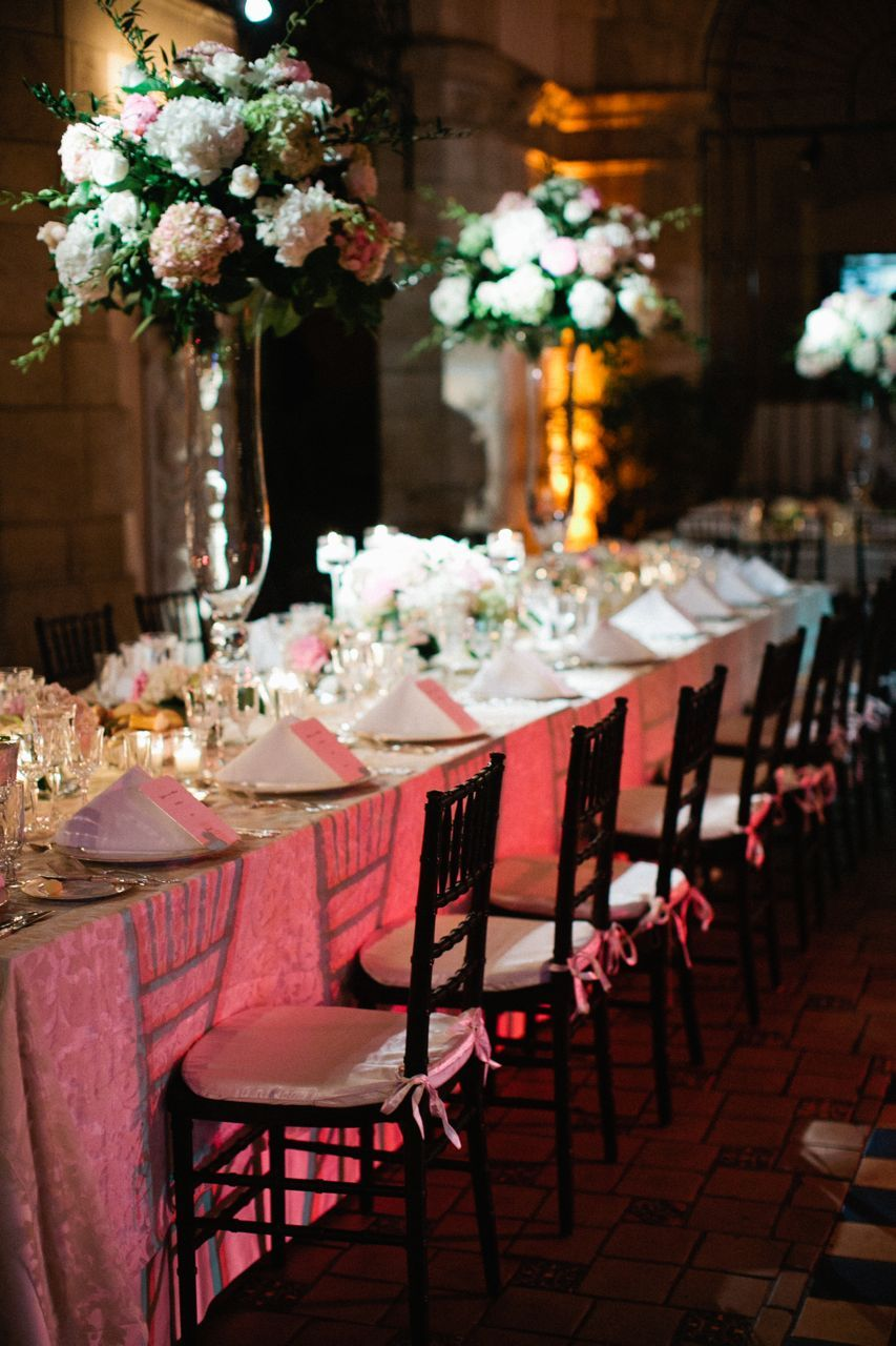 Centerpiece, Table, Long, Linens, Hydrangeas, Karina mike