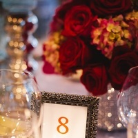 Flowers & Decor, pink, red, silver, Centerpieces, Tables & Seating, Table Numbers, Roses, Romantic, Table, Elegant, Chairs, Glamorous, Traditional, Number, Linens, Tablecloth, Hydrangeas, Formal, Glamour, Sophisticated, Shiny, Crimson, Wendy jason