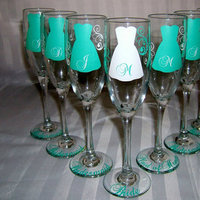 Reception, Flowers & Decor, Favors & Gifts, Bridesmaids, Bridesmaids Dresses, Fashion, white, blue, Favors