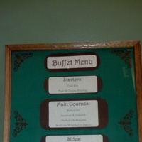 Reception, Flowers & Decor, green, brown, Menu