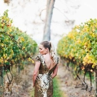 Wedding Dresses, Fashion, gold, dress, Sequined