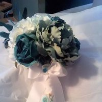 Flowers & Decor, white, blue, green, silver, gold, Flowers, Inspiration board