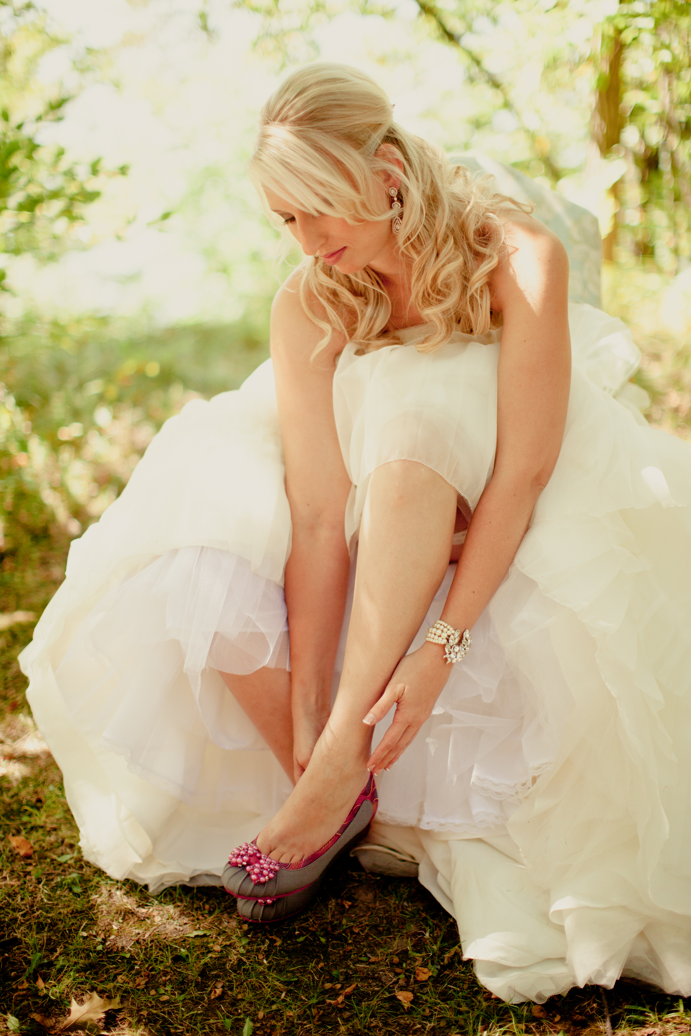 Beauty, Wedding Dresses, Shoes, Fashion, white, pink, purple, dress, Hair